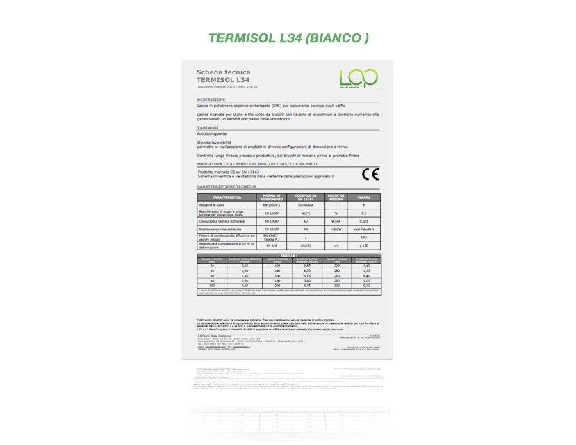 polistirolo termisol L34 bianco