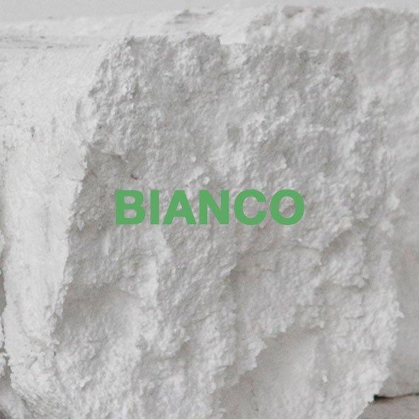 polistirene riciclato bianco
