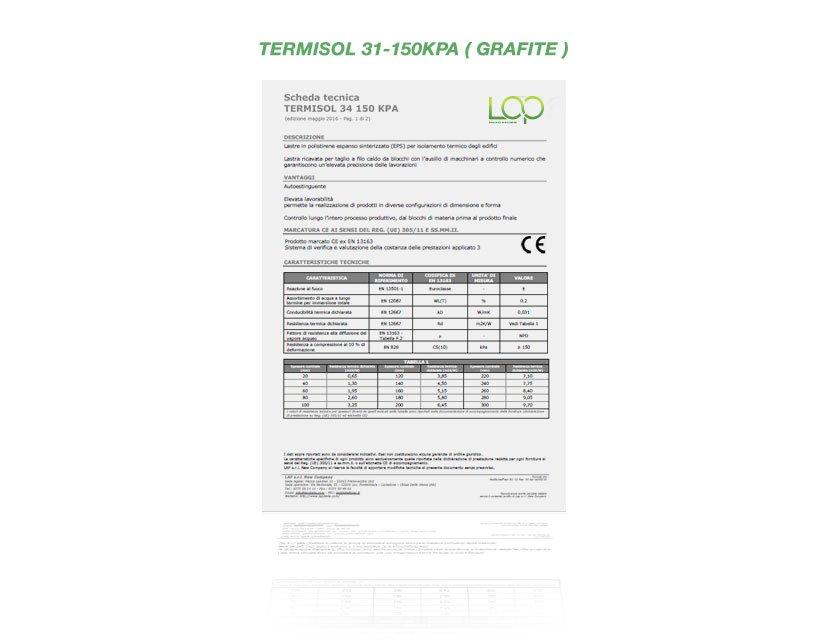 scheda tecnica polistirolo termisol 34
