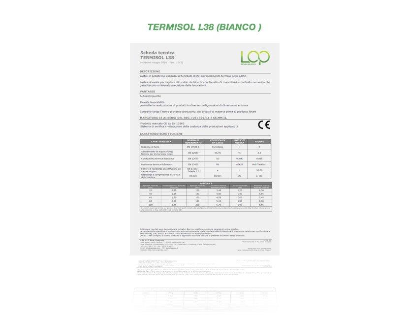polistirolo isolante termisol L38 Bianco