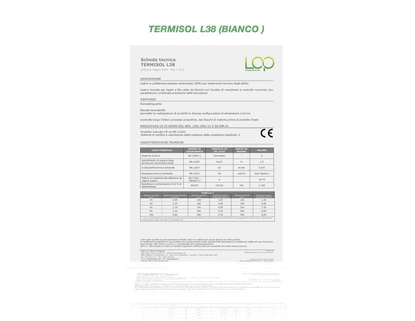 polistirolo Termisol L38 per cappotto termico
