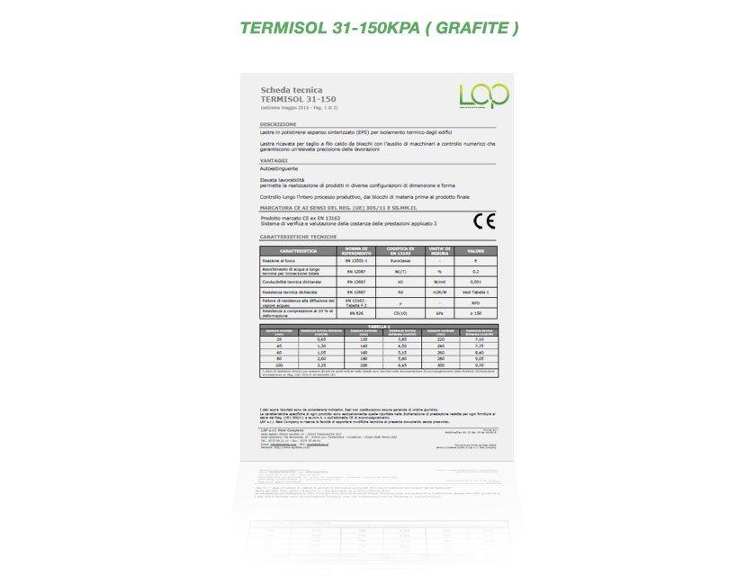 Polistirolo termisol 31-150KPA