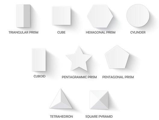 polistirolo sagomato in forme geometriche